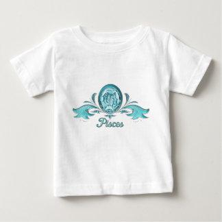 美しいアクアマリンの魚類の魚のデザイン ベビーTシャツ