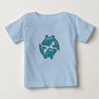 美しいアクアマリンは魚類の魚を宝石で飾ります ベビーTシャツ