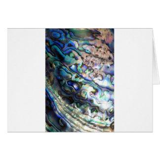 美しいアワビの貝 カード