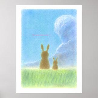 美しいウサギ プリント