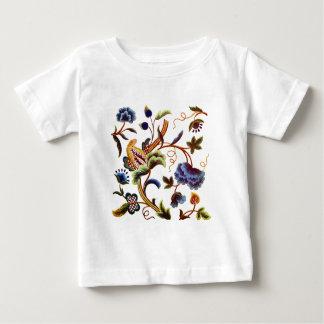 美しいエリザベス朝Jacobean刺繍 ベビーTシャツ