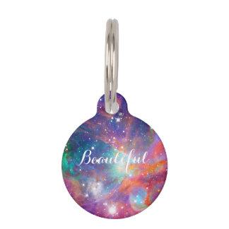 """""""美しいオリオンの素晴らしい星雲の輝くな星"""" ペット ネームタグ"""