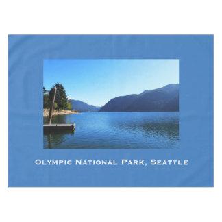 美しいオリンピック国立公園の青いテーブルクロス テーブルクロス