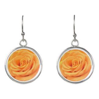 美しいオレンジのばら色の夏の低下のイヤリング イヤリング