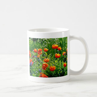 美しいオレンジケシの花のプリント コーヒーマグカップ