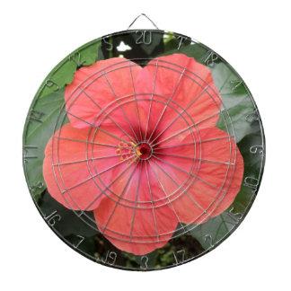 美しいオレンジハイビスカスの花の投げ矢板 ダーツボード