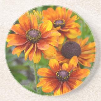 美しいオレンジconeflowers コースター