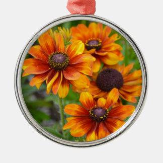 美しいオレンジconeflowers メタルオーナメント