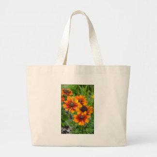 美しいオレンジconeflowers ラージトートバッグ