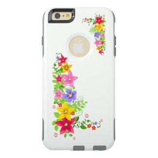 美しいカラフルの花のベクトル芸術 オッターボックスiPhone 6/6S PLUSケース