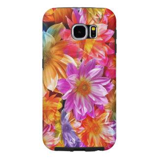 美しいカラフルの花のベクトル芸術 SAMSUNG GALAXY S6 ケース