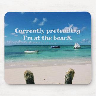 美しいカリブ島のユーモアのあるな引用文 マウスパッド