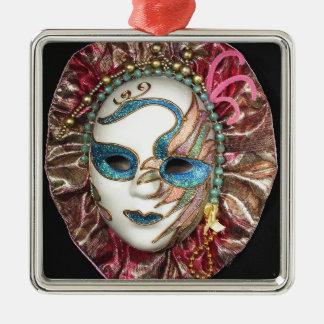 美しいカーニバルのマスク メタルオーナメント