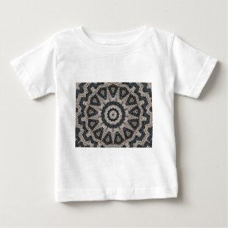 美しいギリシャの白黒小石のモザイク芸術 ベビーTシャツ
