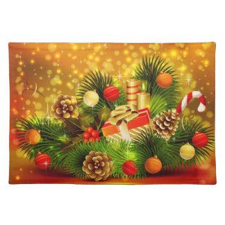 美しいクリスマスのランチョンマット ランチョンマット