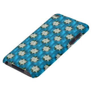 美しいクリスマスの白いポインセチア及び緑の草木 Case-Mate iPod TOUCH ケース
