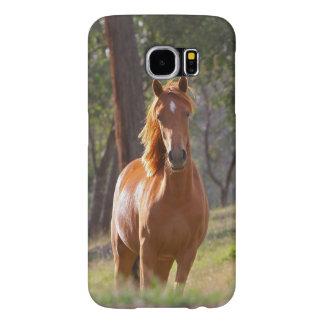 美しいクリ色の馬のiPadの場合 Samsung Galaxy S6 ケース