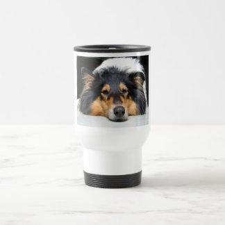 美しいコリー犬鼻三旅行通勤者のマグ トラベルマグ