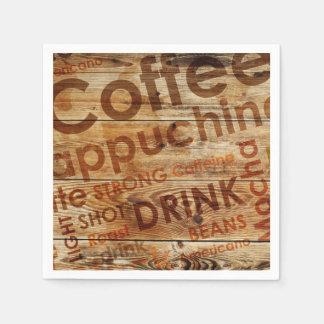 美しいコーヒー台所飲み物 スタンダードカクテルナプキン
