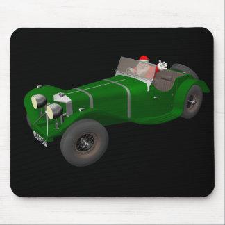 美しいサンタクロースのジャガーSS 90の運転者 マウスパッド