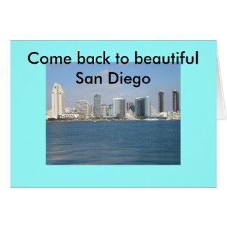 美しいサンディエゴに戻る… カード