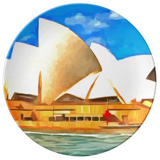 美しいシドニー・オペラハウス 磁器プレート