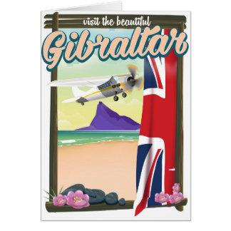 美しいジブラルタル旅行ポスター カード