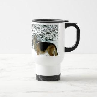 美しいジャーマン・シェパードの通勤者のコーヒー・マグ トラベルマグ