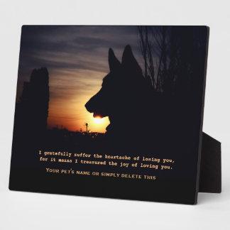 美しいジャーマン・シェパードペット記念額 フォトプラーク
