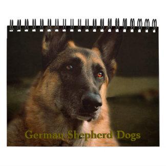美しいジャーマン・シェパード犬のカレンダー カレンダー
