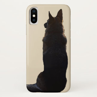 美しいジャーマン・シェパード犬 iPhone X ケース