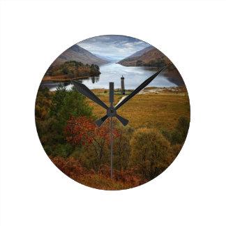 美しいスコットランド ラウンド壁時計
