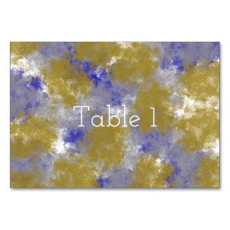 美しいスポンジのプリントのテーブルカード カード