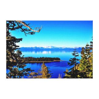 美しいタホ湖のキャンバスのプリント キャンバスプリント
