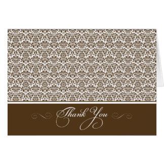美しいダマスク織の写真のサンキューカード(チョコレートかほんの少し カード