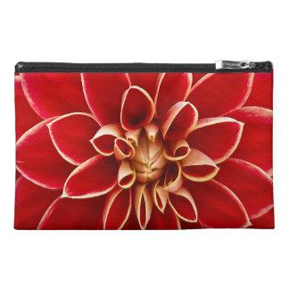美しいダリアの花の花びらのデザイン トラベルアクセサリーバッグ