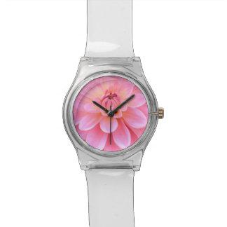 美しいダリア(クローズアップ) 腕時計
