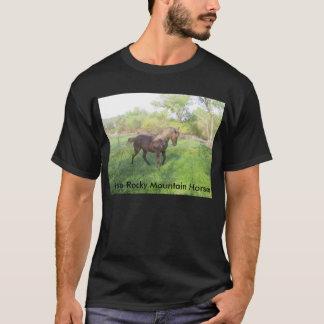 美しいチョコレートロッキー山脈の馬のロバ Tシャツ