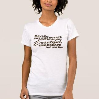 美しいチョコレート、ココアのワイシャツ Tシャツ
