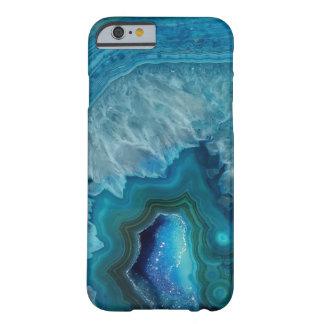 美しいティール(緑がかった色)の青い瑪瑙の石 BARELY THERE iPhone 6 ケース