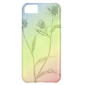 美しいデザインの芸術によっては花柄の花色が開花します iPhone5Cケース