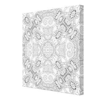 美しいデザインZendoodle 6 キャンバスプリント