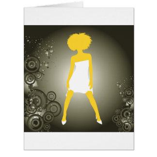 美しいニースの女の子 カード