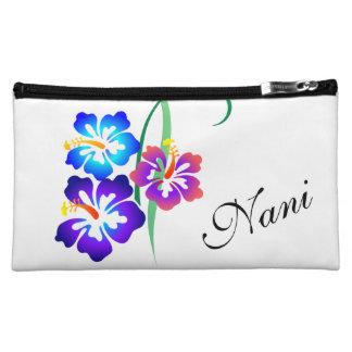 美しいハワイのハイビスカスの花Nani コスメティックバッグ