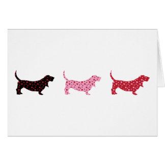 美しいバセット犬 カード