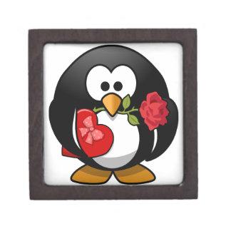 美しいバレンタインのペンギン ギフトボックス