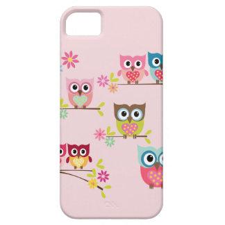 美しいパステル調のフクロウ- iPhone 5/5Sの場合 iPhone SE/5/5s ケース
