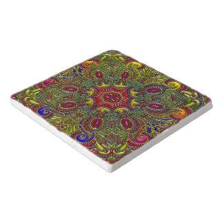 美しいパターン金属虹 トリベット