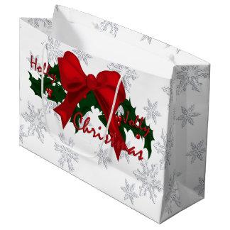 美しいヒイラギのすてきなクリスマスLGB ラージペーパーバッグ