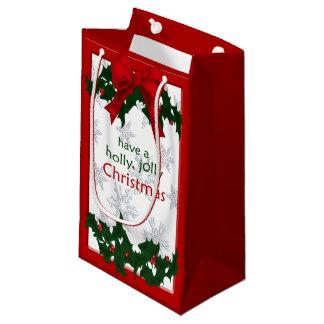 美しいヒイラギのすてきなクリスマスSGB スモールペーパーバッグ